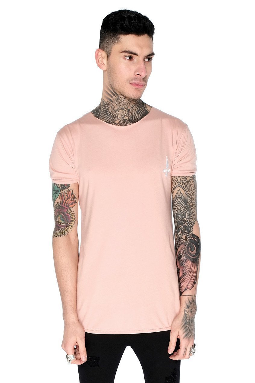 Training Men's Crew Neck T-Shirt - Dusty Pink - Judas Sinned Clothing