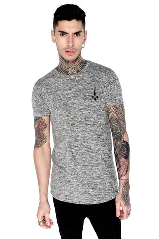 Judas Sinned Inri Devil Crystal Sleeve Men's T-Shirt - Black