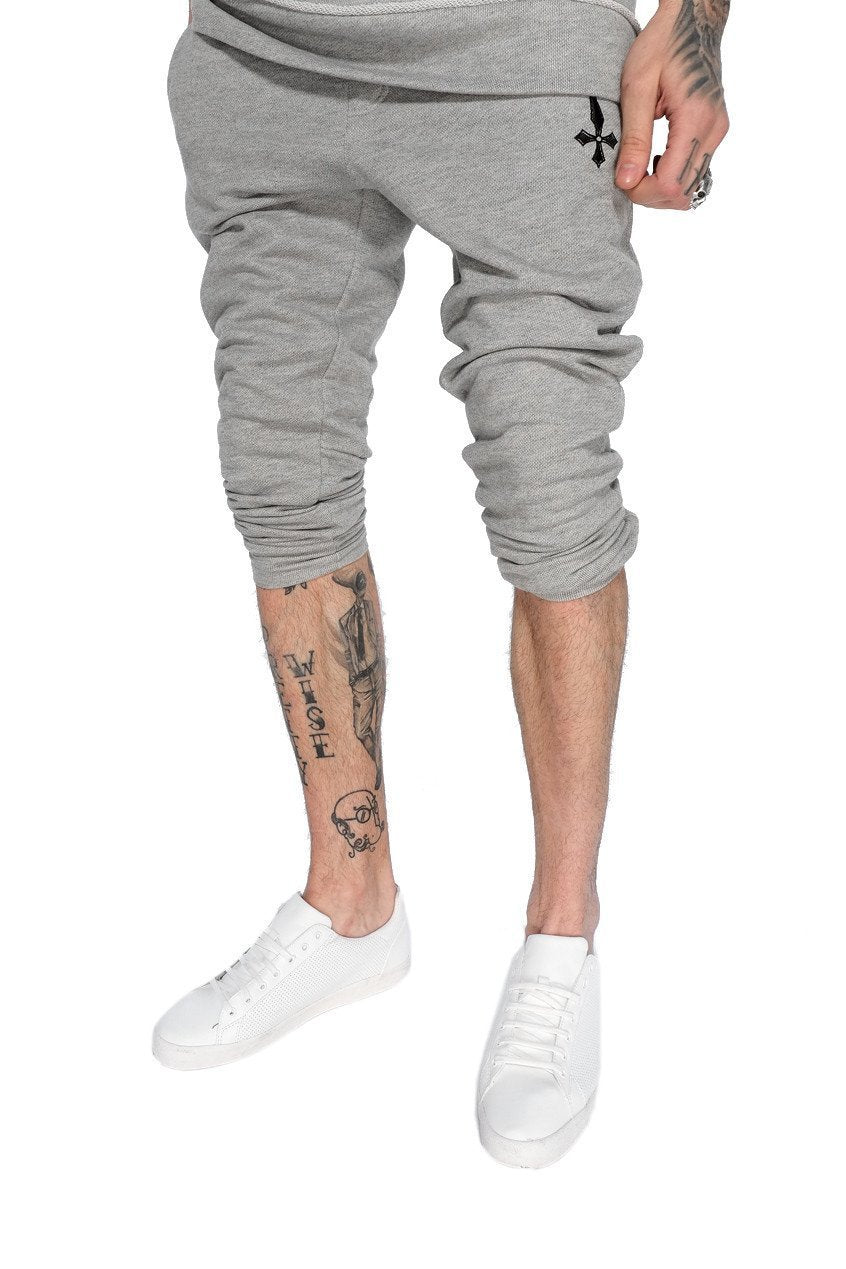 Mens Judas Sinned Training Men's Joggers / Jogging Bottomss - Grey (JOGGERS) - Judas Sinned Clothing