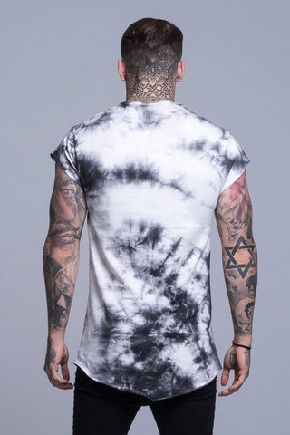Mens Judas Sinned Outline Grunge Men's T-Shirt - Grey (T-SHIRT) - Judas Sinned Clothing