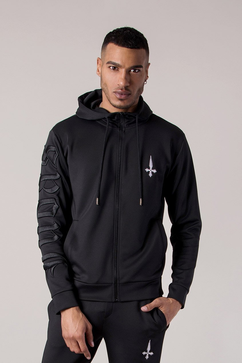 Judas Sinned 3D Men's Hoodie - Black - Judas Sinned Clothing