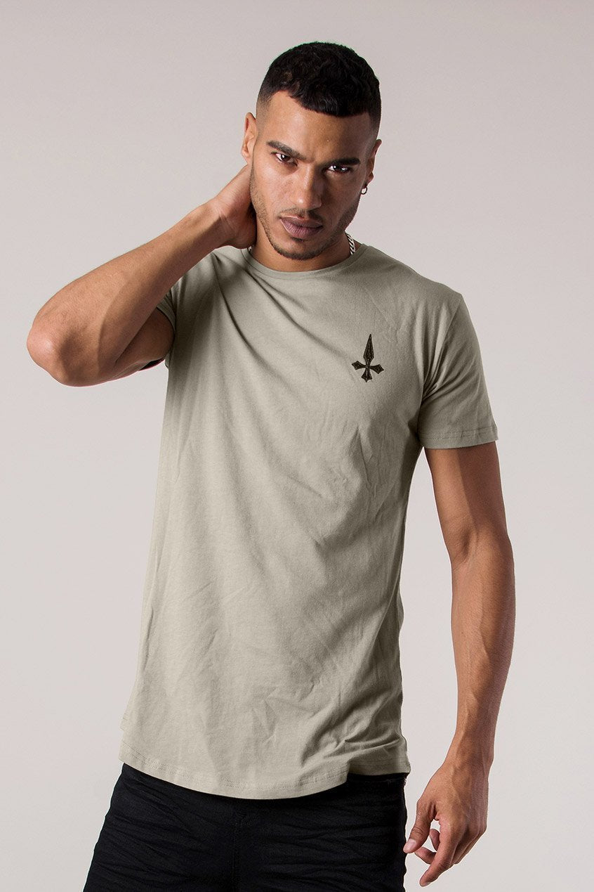 Judas Sinned Fallen Angel Print Men's T-Shirt - Plaza Taupe - Judas Sinned Clothing