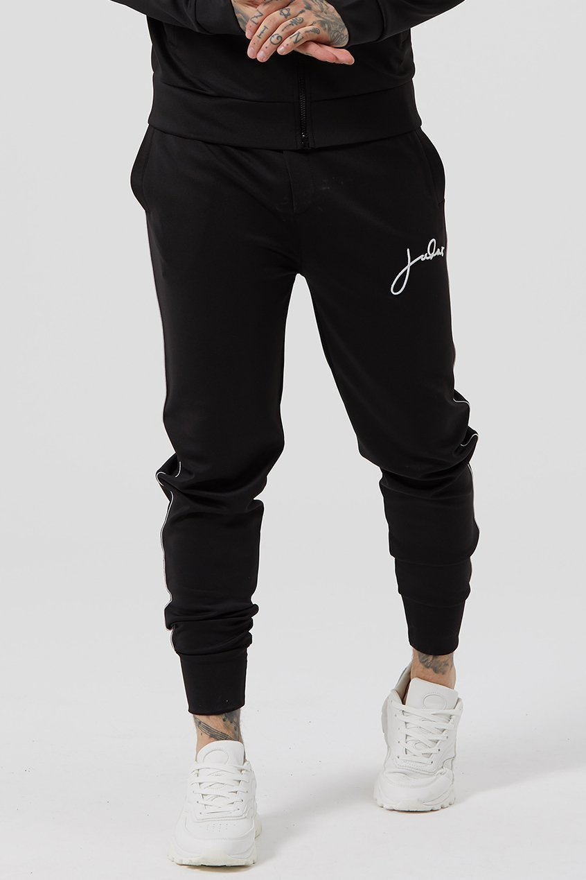 Mens Judas Sinned Fine Scuba Signature Men's Joggers / Jogging Bottoms - Black (Joggers) - Judas Sinned Clothing