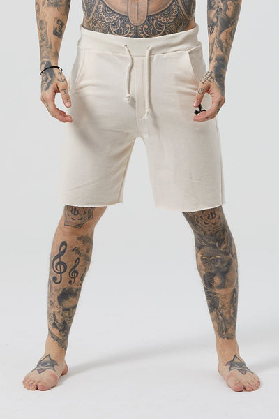 Judas Sinned Grind Cut Hem Wide Men's Shorts - Jet Stream - Judas Sinned Clothing