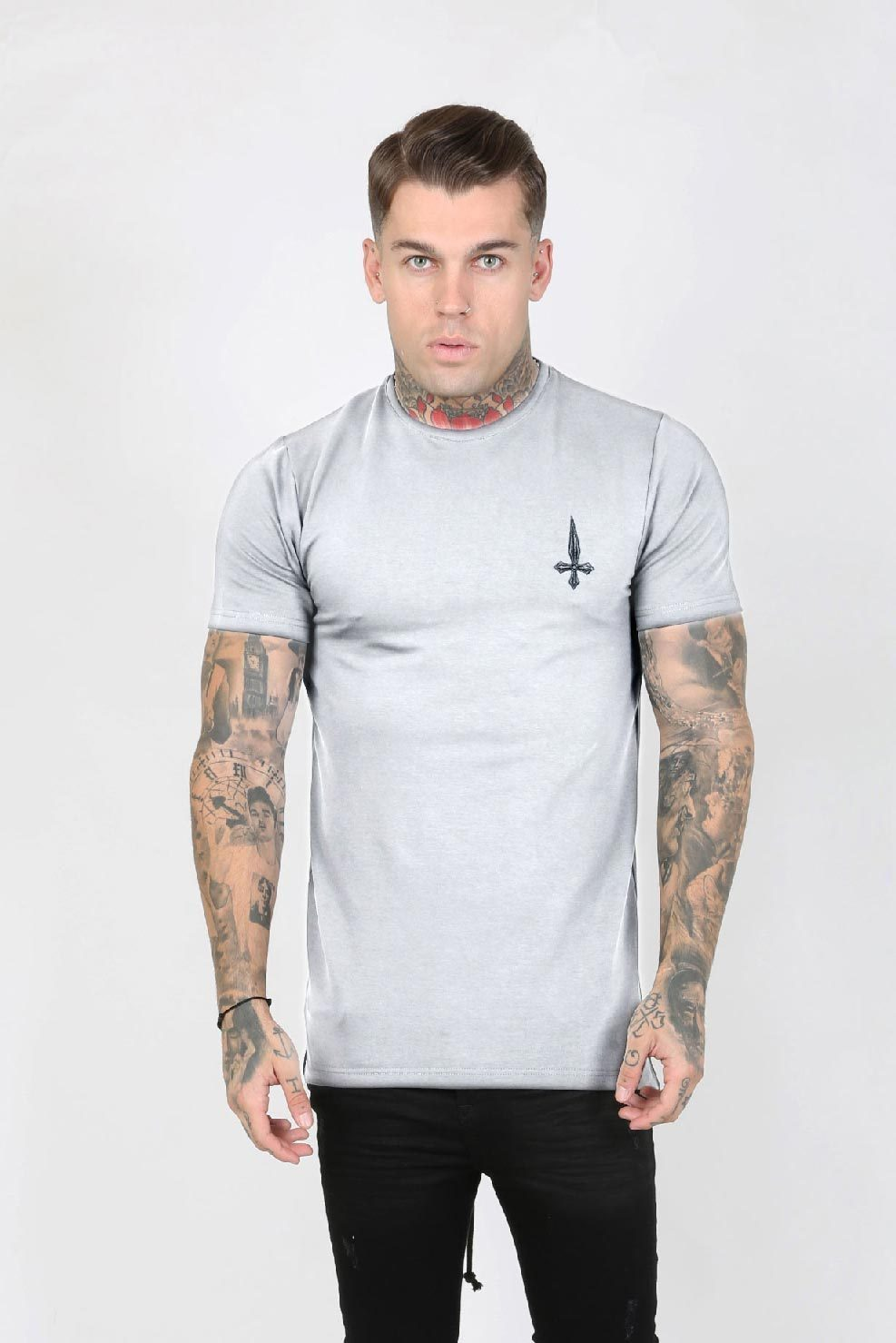 Judas Sinned Parka Hem Men's T-Shirt - Grey - Judas Sinned Clothing