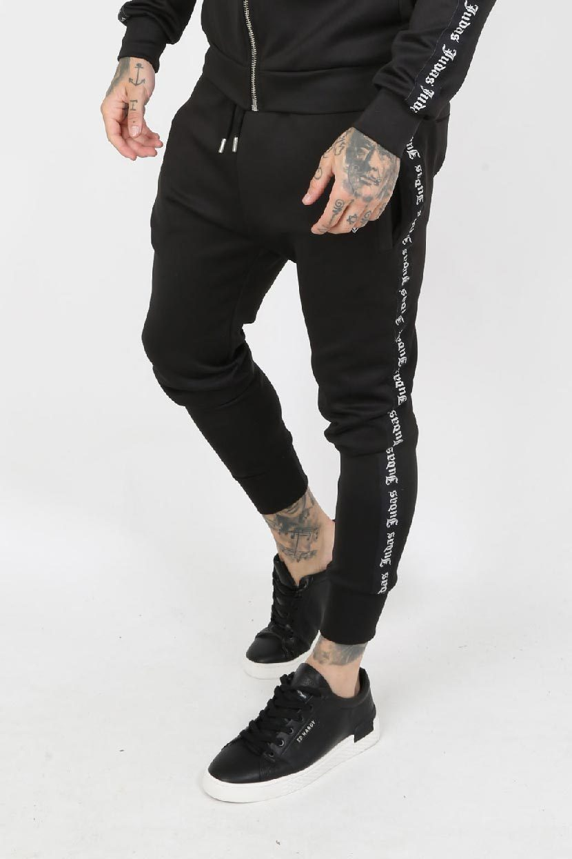 Judas Sinned Piece Tape Scuba Men's Joggers - Black - Judas Sinned Clothing