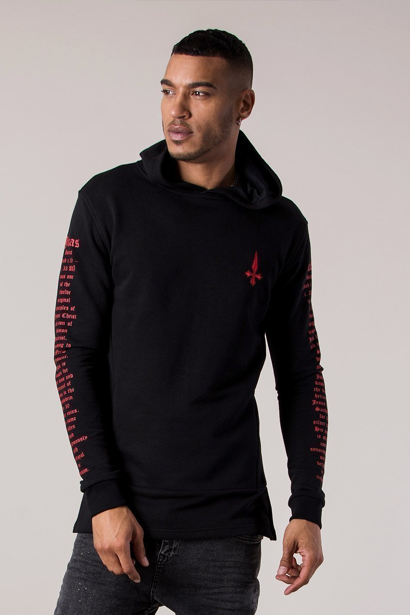 Script Sniper Men's Hoodie - Black - Judas Sinned Clothing