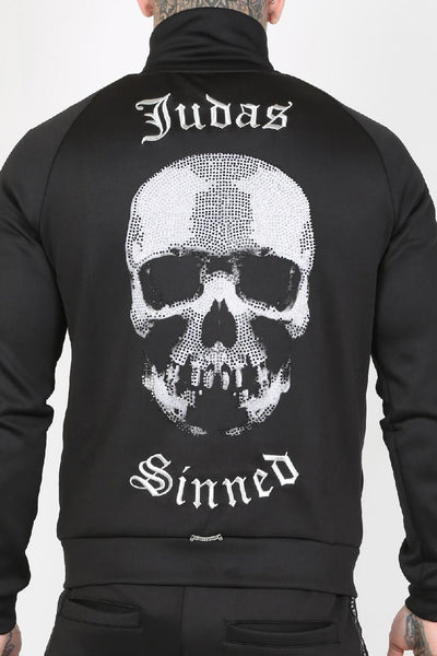 Judas Sinned Show Crystal Scuba Men's Tracksuit Top - Black - Judas Sinned Clothing