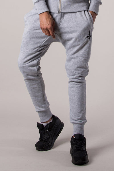 Judas Sinned Signature Tracksuit Men's Joggers / Jogging Bottoms - Grey Marl - Judas Sinned Clothing