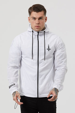 Judas Sinned Sleeveless Cut Off Rep Men's Hoodie - White