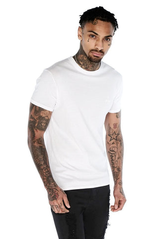 Judas Sinned Betrayed Crystal Curved Hem Men's T-Shirt - White