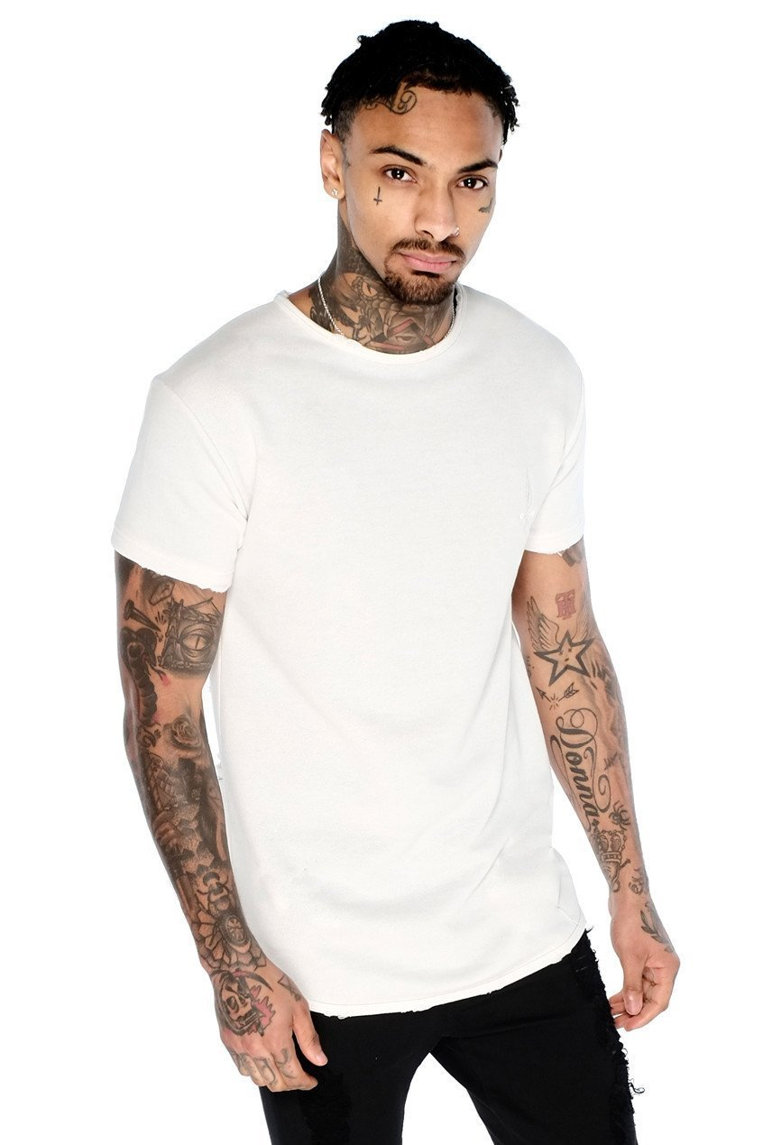 Judas Sinned Clothing T-SHIRT Small / White Judas Sinned Crew Sweat T-Shirt - White