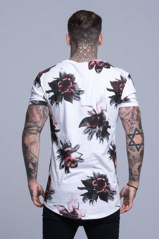 Mens Judas Sinned Orchid Print Men's T-Shirt - White (T-SHIRT) - Judas Sinned Clothing