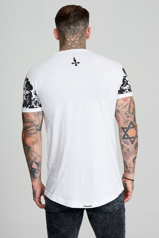 Mens Judas Sinned Sinner Skull Men's T-Shirt - White (T-SHIRT) - Judas Sinned Clothing