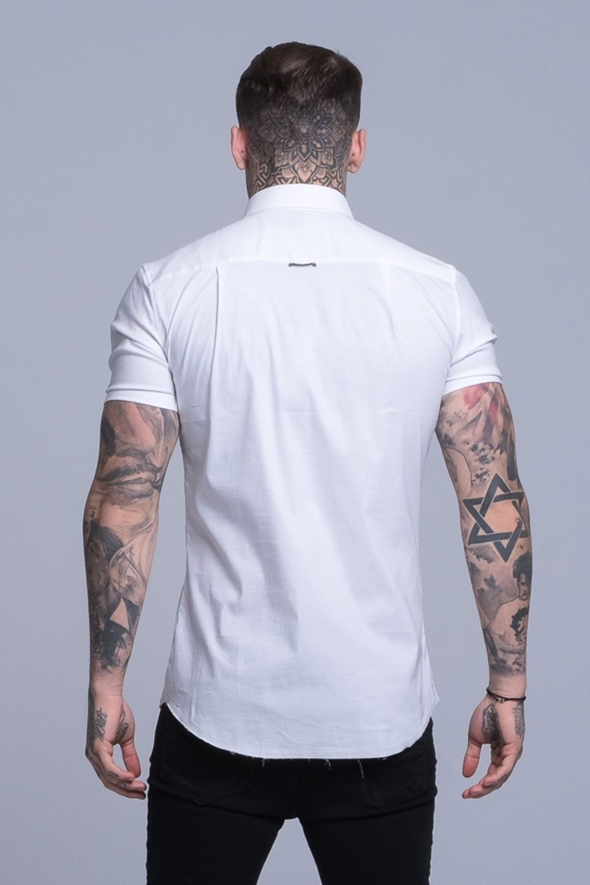 Mens Judas Sinned Smart Short Sleeved Disciple Shirt - White (Shirts) - Judas Sinned Clothing