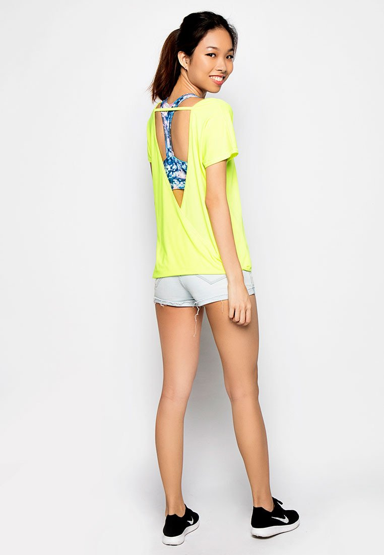 Cool Breeze V-back Top - Yellow