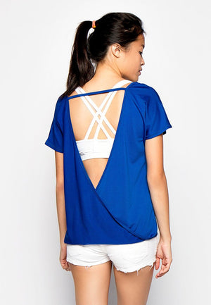 Cool Breeze V-back Top - Blue