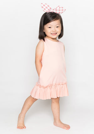 RUFFLED HEM DRESS - PINK