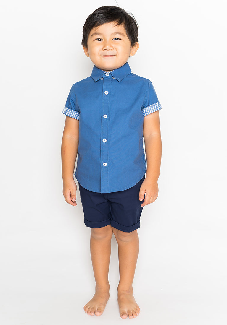 COLLARED BUTTON DOWN - BLUE