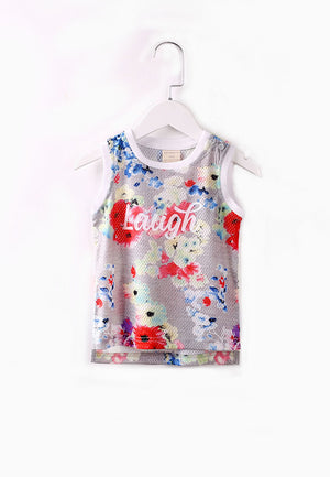 Little Laughs Tank Tee - Grey