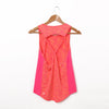 Criss-Cross Active Tank Top - Coral