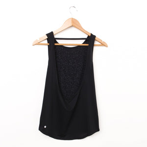 U-back Tank Top - Black