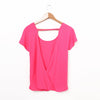 Cool Breeze V-back Top - Pink