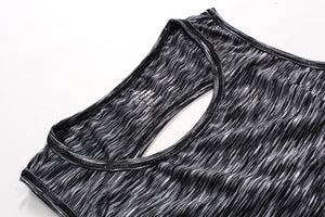 Criss-Cross Active Tank Top - Black