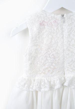 Little Layered Lace Dress - White
