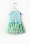 Little Layered Lace Dress - Green