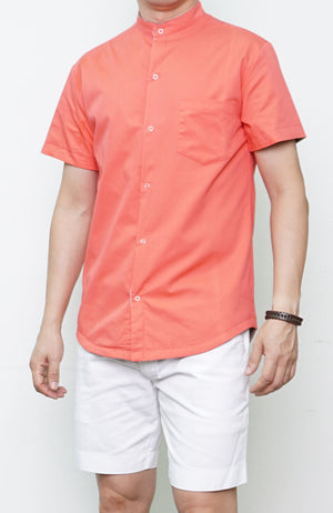2 Way Print Shirt - Coral Red (Daddy)