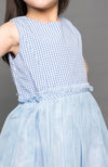 Plaid Party Dress - Blue