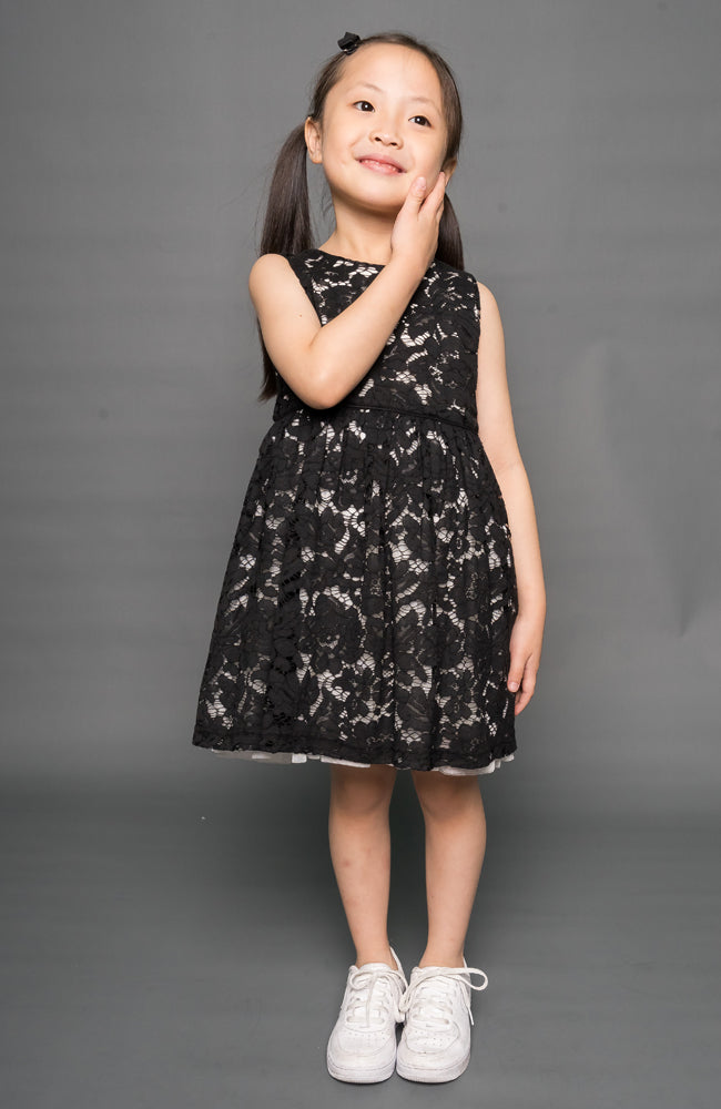 The Flora Dress - Black