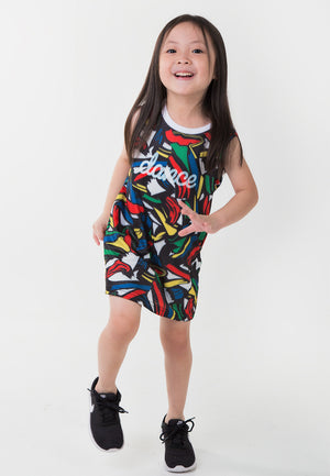Tiny Dancer Tank Dress - Black