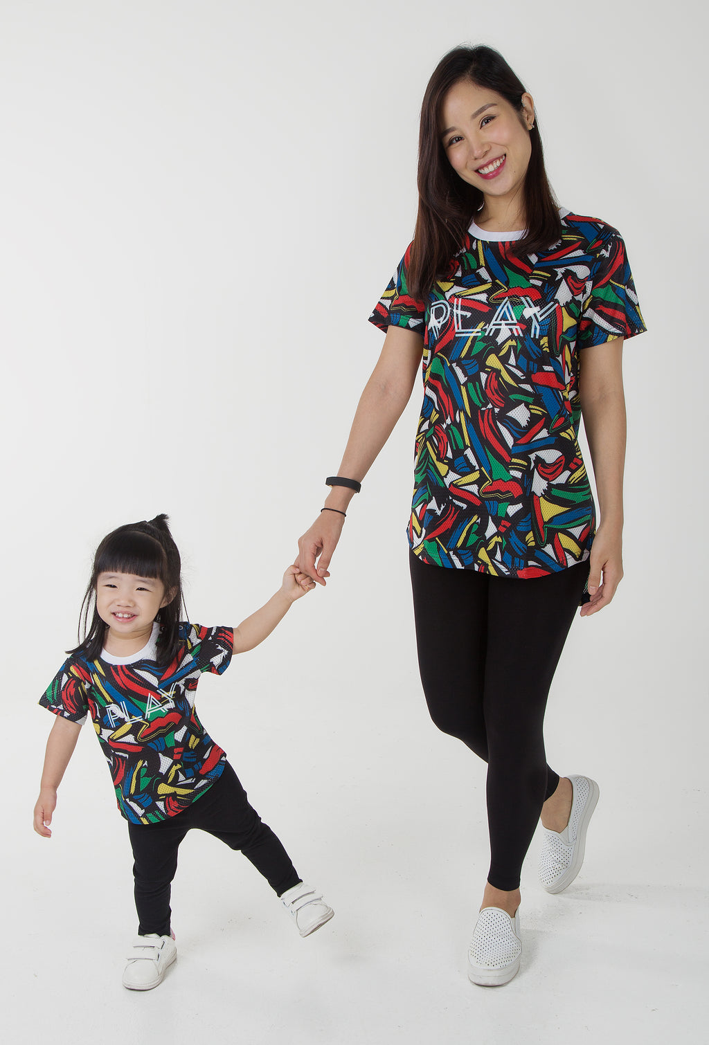 Play Date Oversized Tee - Black (Mommy)
