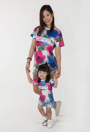 Sing Along Too Oversized Tee - White (Mommy)