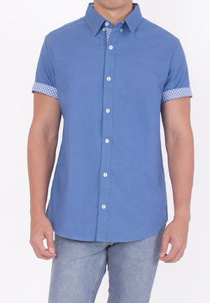 COLLARED BUTTON DOWN - BLUE (DADDY)