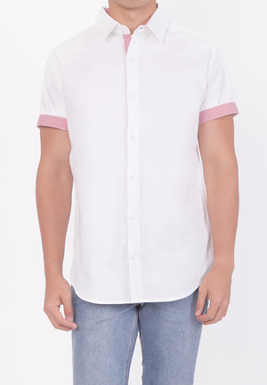 PASTEL HUE COLLARED BUTTON DOWN - WHITE (DADDY)