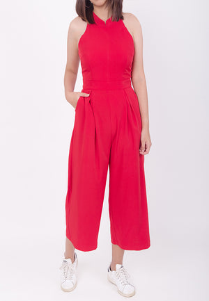CHEONGSAM JUMPSUIT - RED (MOMMY)