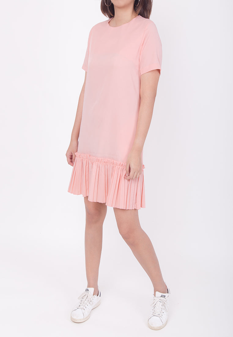 RUFFLED HEM DRESS - PINK (MOMMY)