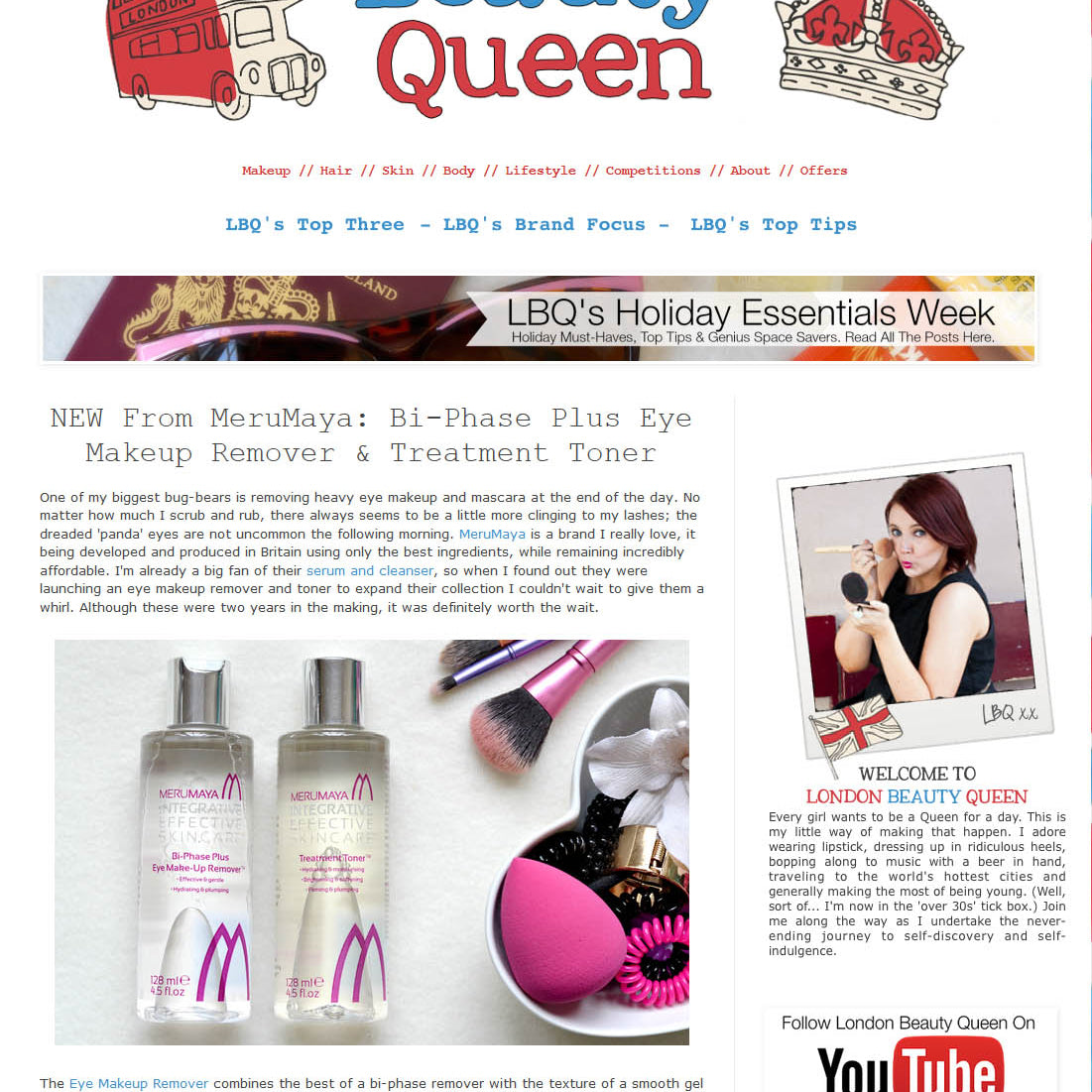 london beauty queen blog