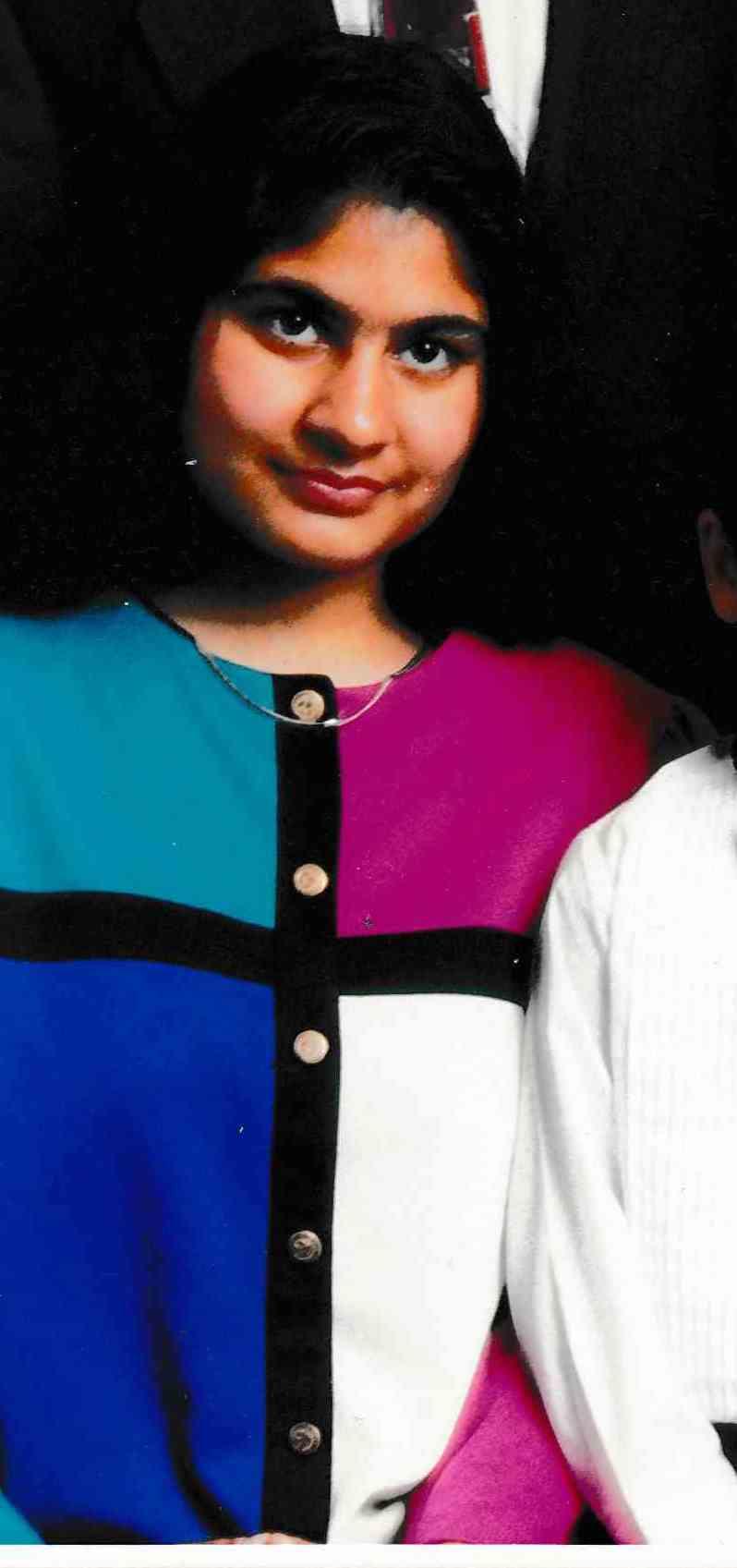 Mahnaaz Dattu in her teens
