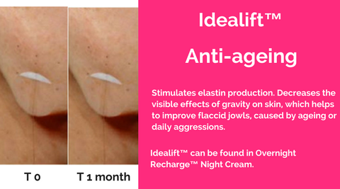 idealift merumaya skincare active ingredients anti-ageing