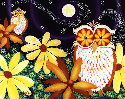 My Night Owls painting