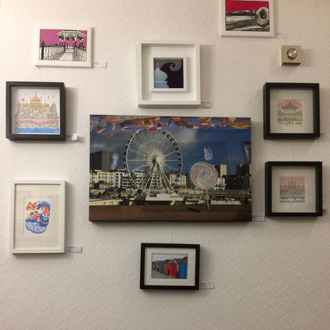 Views of Brighton by several artists on display at The Claremont Hotel