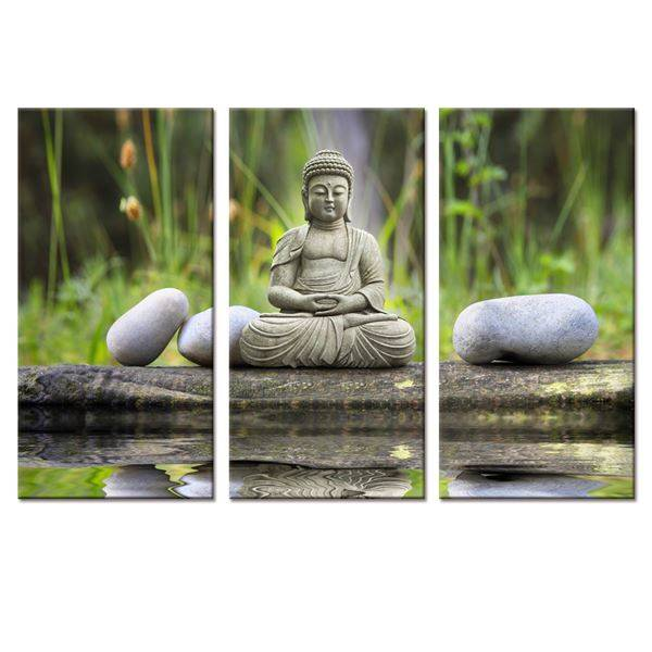Buddha Canvas Art For Home Decoration-3 pieces - Home Wall Deco