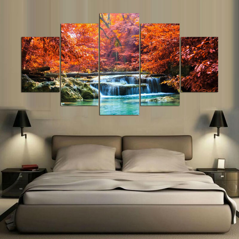 Wall Pictures For Living Room Autumn Scenery Canvas Art TOY - Home Wall Deco