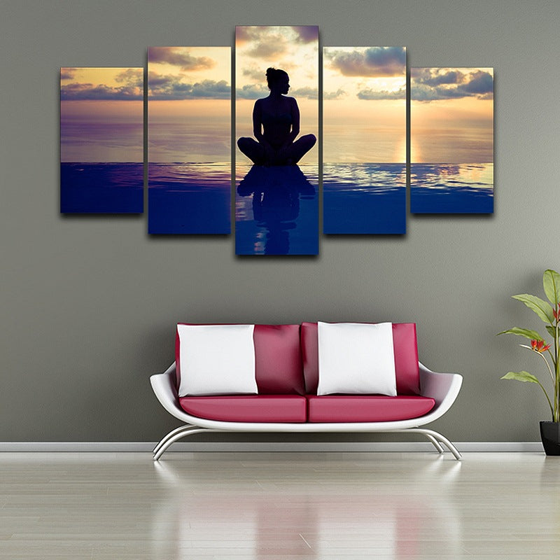 Home Decor wall art pictures Yoga on Canvas Canvas Art - Home Wall Deco
