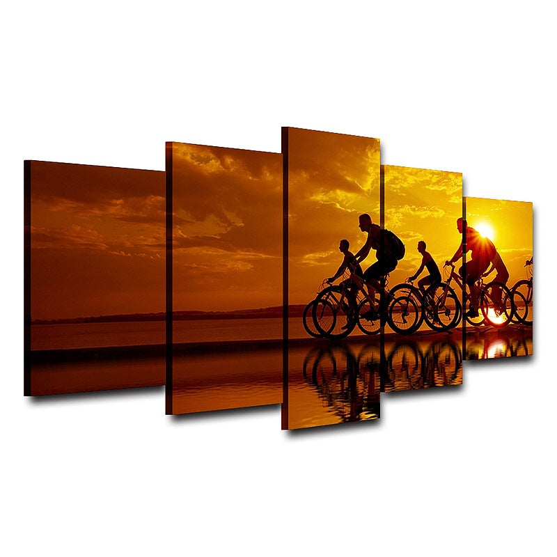 Canvas Home Decor wall art pictures Cyclist Canvas Art - Home Wall Deco