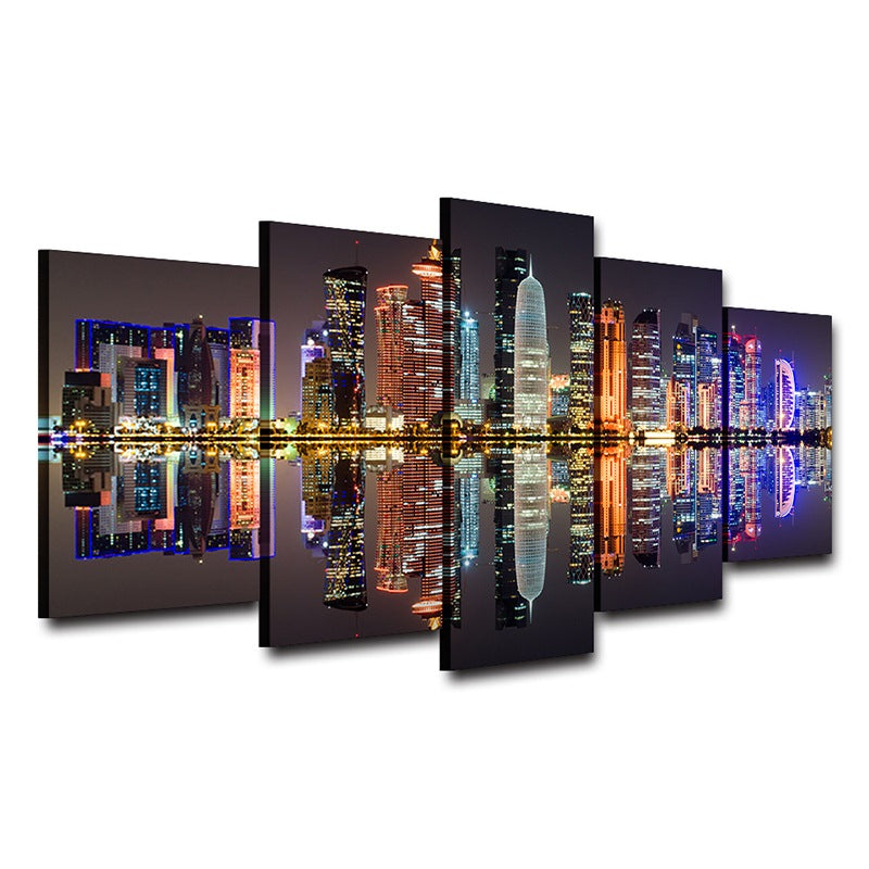 wall art on Canvas pictures Home Decor Night View Canvas Art - Home Wall Deco